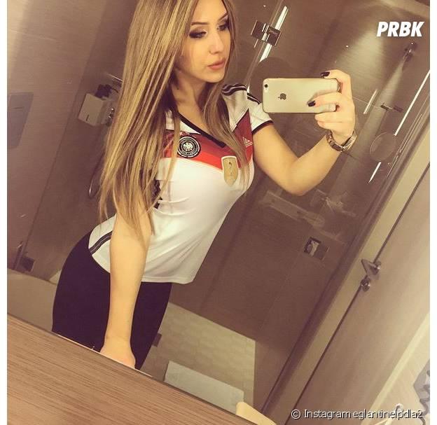 Eglantine (Les Princes de l'amour 2) fan de foot sur Instagram