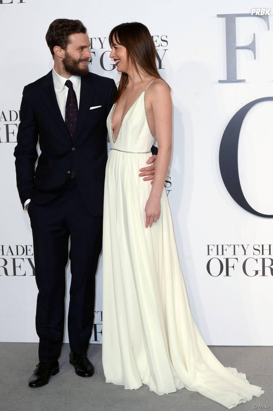 "Dakota Johnson ""en couple"" avec Jamie Dornan à l'écran dans Fifty Shades of Grey"