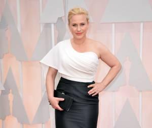 Patricia Arquette sur le tapis rouge des Oscars, le 22 février 2015 à Los Angeles