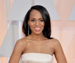 Kerry Washington sur le tapis rouge des Oscars, le 22 février 2015 à Los Angeles