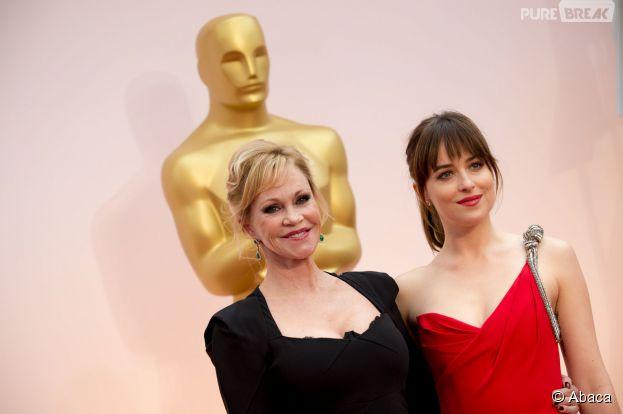 Dakota Johnson et Melanie Griffith aux Oscars 2015 le 22 février