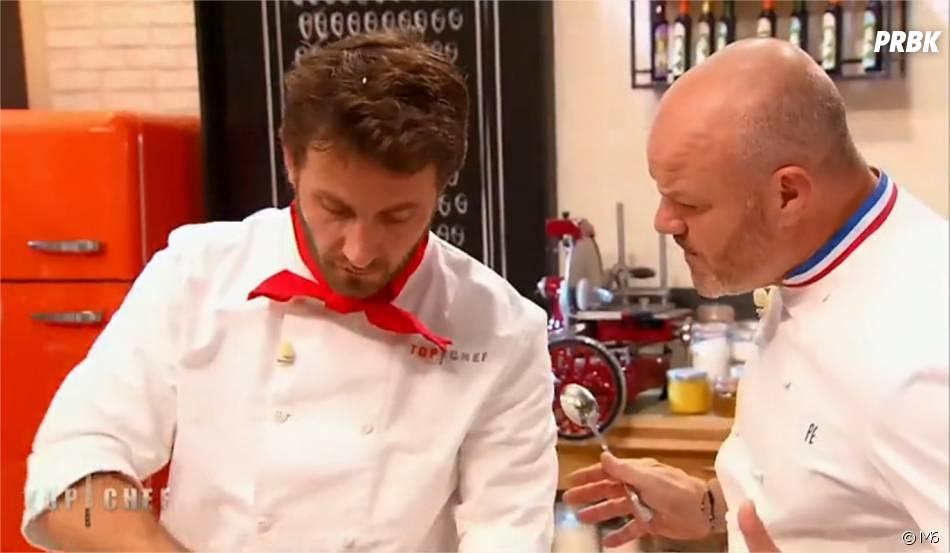 Julien Machet et Philippe Etchebest dans Top Chef 2015