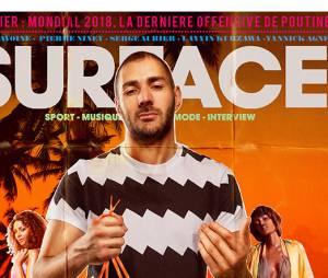 Karim Benzema en Une du magazine Surface, en kiosque le 16 février 2015