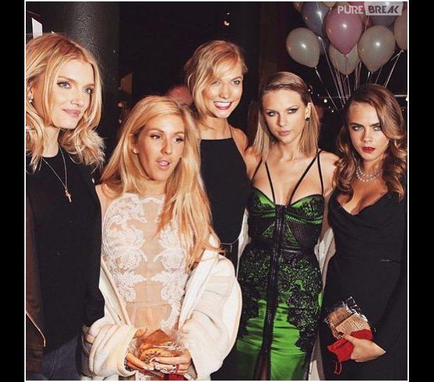 Taylor Swift aux côtés de Cara Delevingne, Ellie Goulding et Karlie Kloss aux ELLE Style Awards 2015