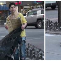 Qui va aider cet enfant SDF, à la rue par -15° ? L'expérience sociale choquante