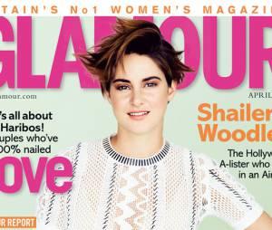Shailene Woodley en couverture de Glamour UK pour le mois d'avril 2015