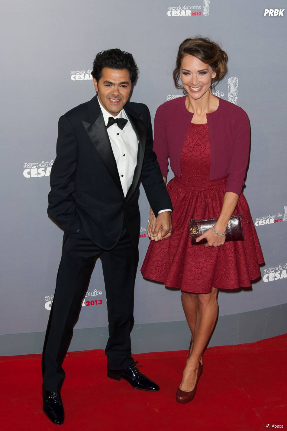 Jamel Debbouze et Mélissa Theuriau sur le tapis rouge des César 2013