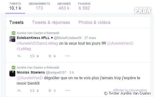 Aurélie Van Daelen : ses fans réclament sur Twitter son retour dans le Mag de NRJ 12