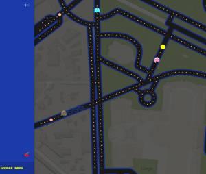Google Maps cache le jeu Pac-Man