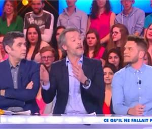"""Keen'V : gros fou rire après un """"ta gueule"""" de Jean-Michel Maire dans TPMP, le 1er avril 2015 ur D8"""