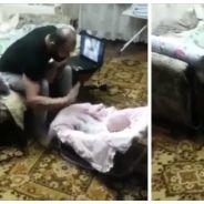 Adorable : héroïque, un chat empêche un père de frapper son bébé