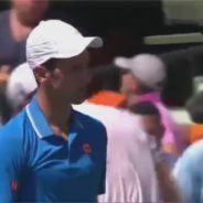 Novak Djokovic fait peur à un ramasseur de balles... puis s'excuse sur Facebook