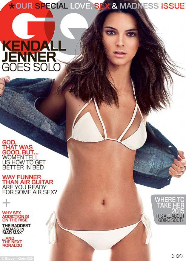 Kendall Jenner sexy en bikini pour la Une du magazine GQ, numéro de mai 2015