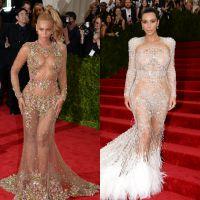 Beyoncé VS Kim Kardashian : battle de robes sexy et transparentes au MET Gala 2015