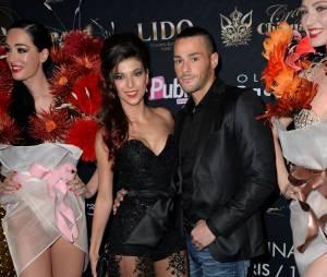Serena and Giuseppe à l'élection Top Model Belgium organisée au Lido à Paris le dimanche 10 mai 2015