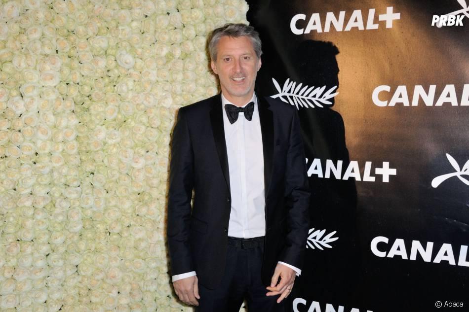 Antoines de Caunes à la soirée de Canal+ à Cannes le vendredi 15 mai 2015