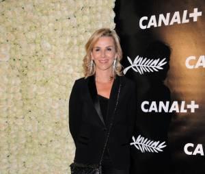 Laurence Ferrari à la soirée de Canal+ à Cannes le vendredi 15 mai 2015