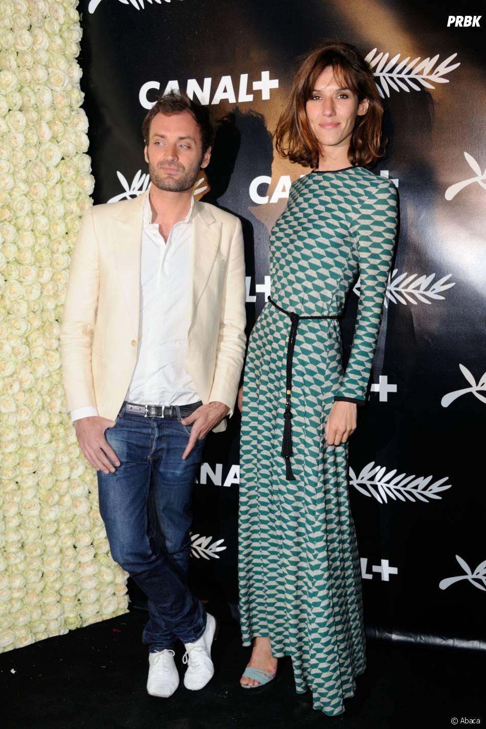 Doria Tillier et Augustin Trapenard à la soirée de Canal+ à Cannes le vendredi 15 mai 2015