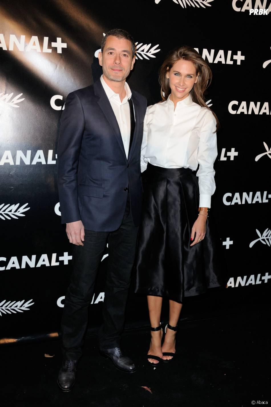Ophélie Meunier et Ali Badou à la soirée de Canal+ à Cannes le vendredi 15 mai 2015
