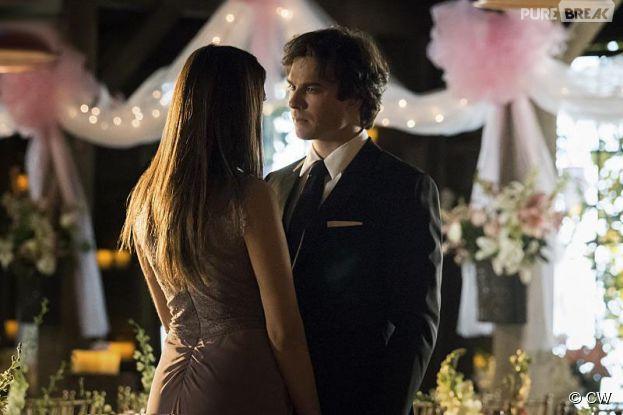Ian Somerhalder et Nina Dobrev dans l'épisode 21 de la saison 6 de Vampire Diaries