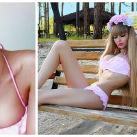 """Fascinant ou flippant ? Découvrez la nouvelle Barbie humaine russe : """"Je suis une poupée vivante"""" !"""