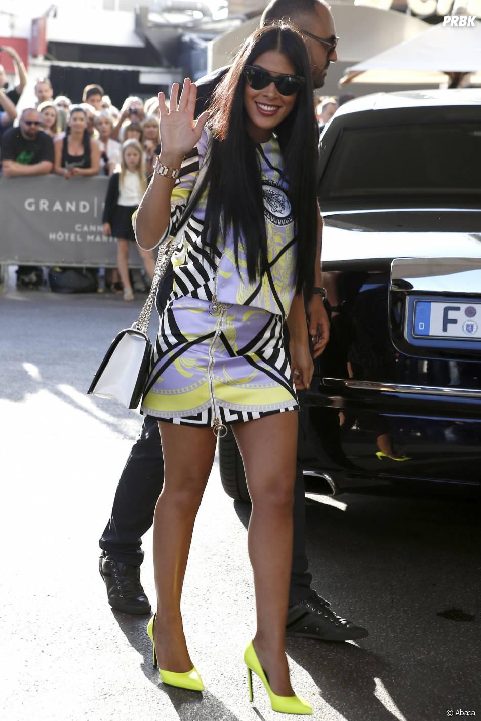 Ayem Nour sur la Croisette pendant le festival de Cannes 2015, le 16 mai 2015