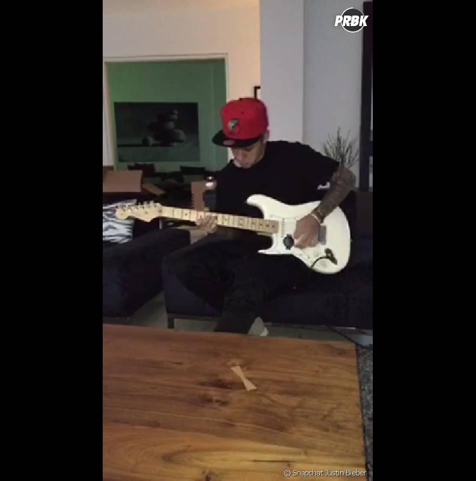 Justin Bieber sur Snapchat : musicien avant tout !