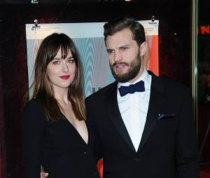 Fifty Shades of Grey : Jamie Dornan et Dakota Johnson à une avant-première du film
