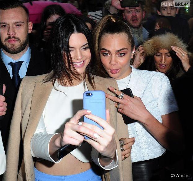 Cara Delevingne et Kendall Jenner à Londres, le 22 février 2015