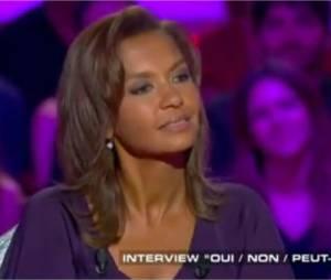 Karine Le Marchand et Lilian Thuram bientôt réconciliés ? L'animatrice de L'Amour est dans le pré répond dans Salut Les Terriens, le 13 juin 2015 sur Canal+