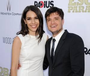 Josh Hutcherson et Claudia Traisac posent ensemble à l'avant-première hollywoodienne de Paradise Lost, le 22 juin 2015