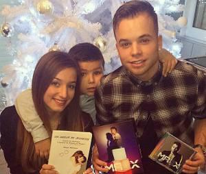 Ma2x et Margot Malmaison fêtent Noël, le 24 décembre 2014 sur Instagram