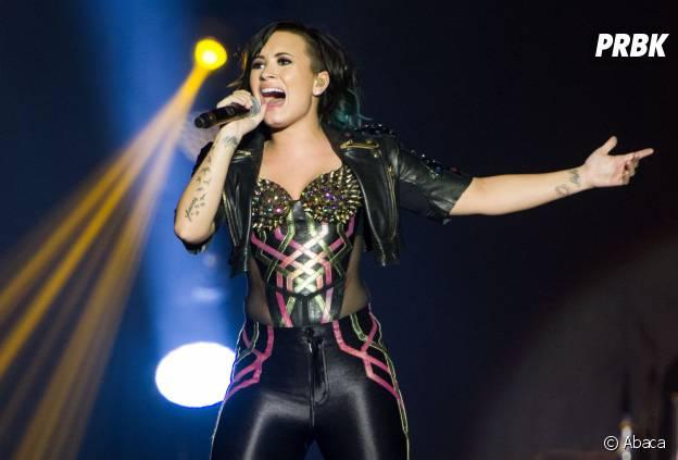 Demi Lovato en concert en novembre 2014