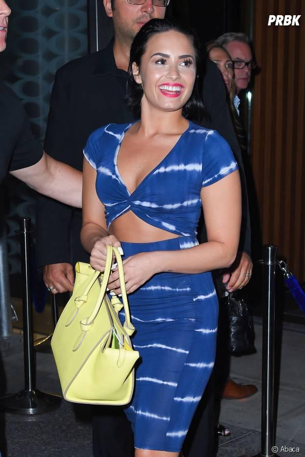 Demi Lovato rayonnante à New York le 1er juillet 2015