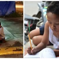A 9 ans, il étudiait dans la rue à la lumière d'un fast-food : les internautes lui payent ses études