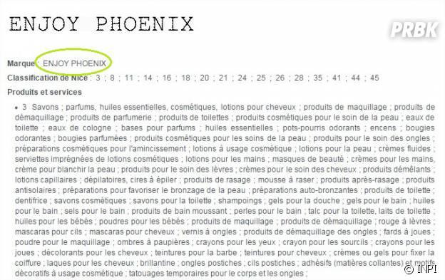 EnjoyPhoenix : elle a déposé son nom et sa marque à l'INPI