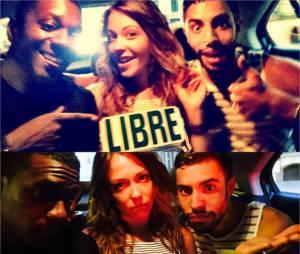 Dounia Coesens, David Baiot et Marwan Berreni en Espagne pour les vacances d'été 2015