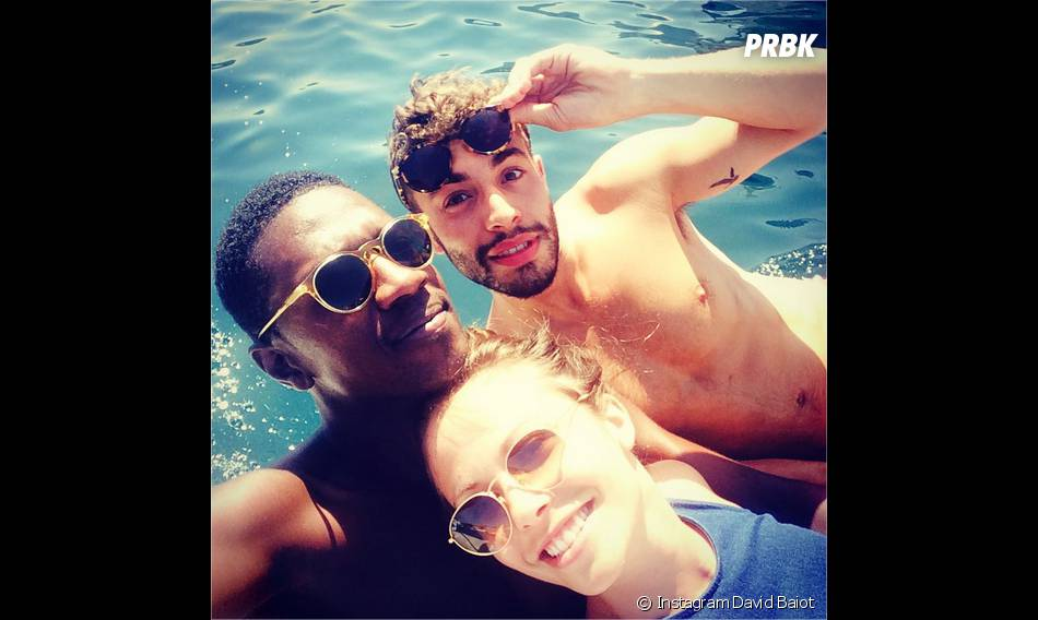 Dounia Coesens, David Baiot et Marwan Berreni complices en Espagne pour les vacances d'été 2015