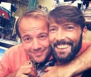 Laurent Kérusoré et Stéphane Hénon sur le tournage de Plus belle la vie pendant les vacances d'été 2015