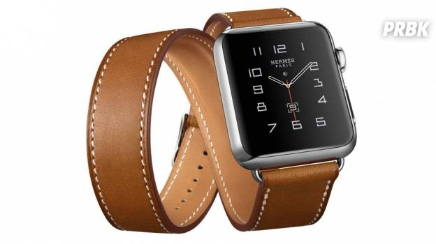 L'Apple Watch et le bracelet en cuir Hermès