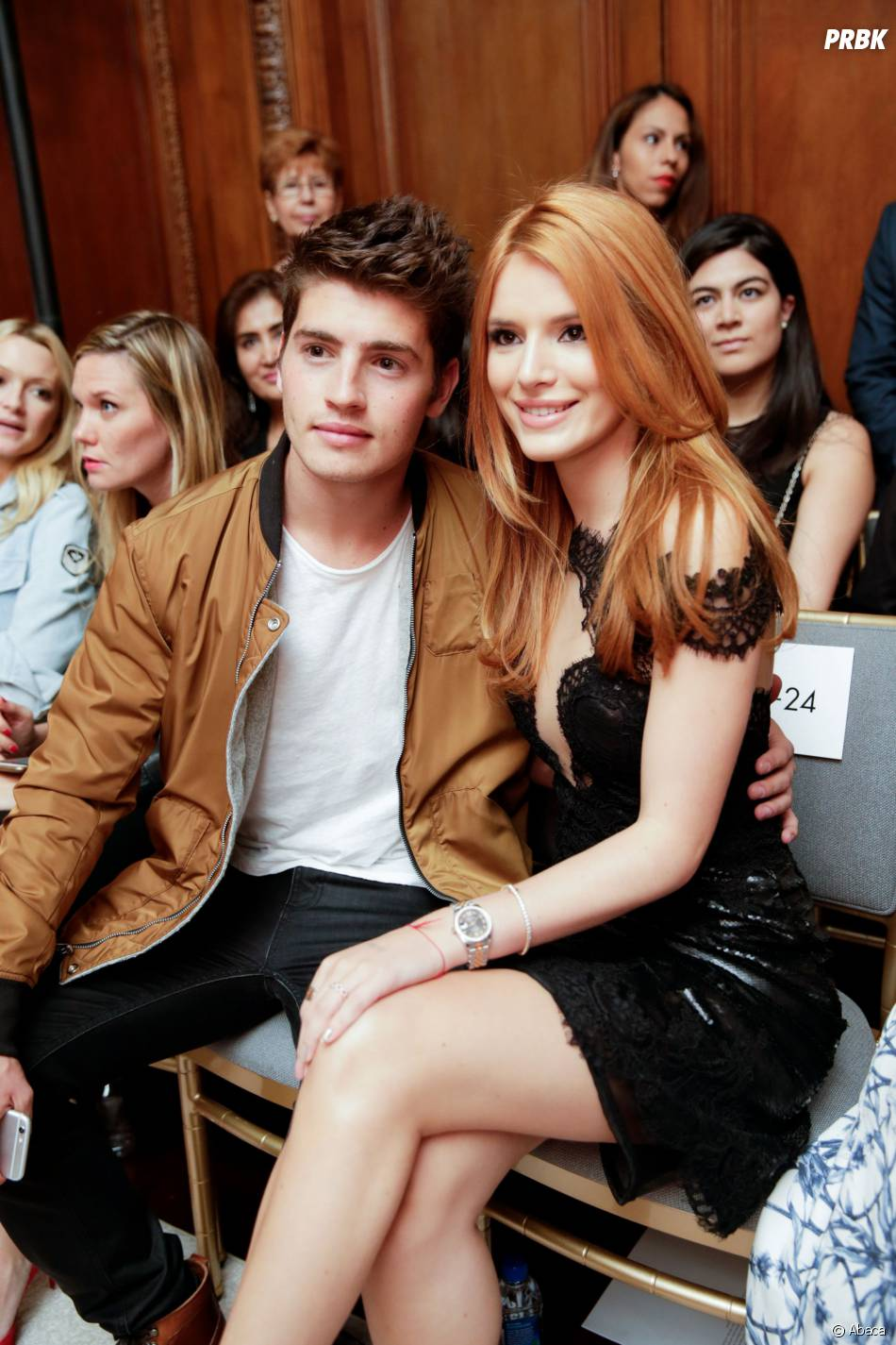 Bella Thorne et Gregg Sulkin lors d'un défilé de la Fashion Week de New York en septembre 2015