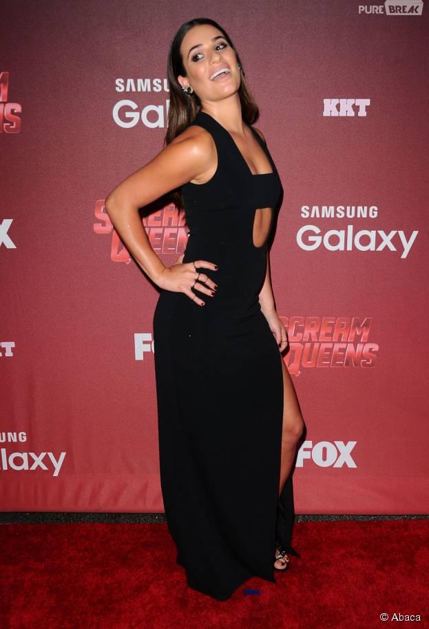 Lea Michele sexy à l'avant-première de Scream Queens, le 21 septembre 2015 à Los Angeles