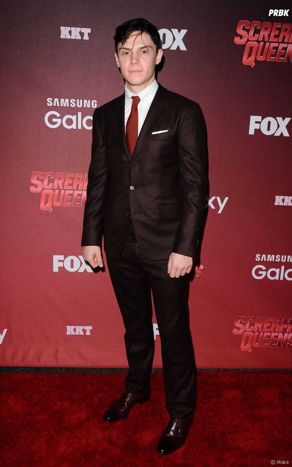 Evan Peters à l'avant-première de Scream Queens, le 21 septembre 2015 à Los Angeles