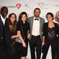 Tony Parker et Axelle, Omar Sy et Hélène, Jamel Debbouze et Mélissa... chics pour le gala Par Coeur