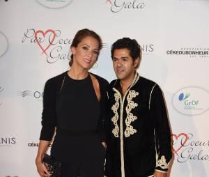 Jamel Debbouze et Mélissa Theuriau sur le tapis rouge du gala Par Coeur au profit de l'association Cé Ke Du Bonheur à Paris, le 24 septembre 2015
