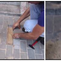 Héroïque : il libère un chien enterré vivant depuis des jours sous un trottoir !