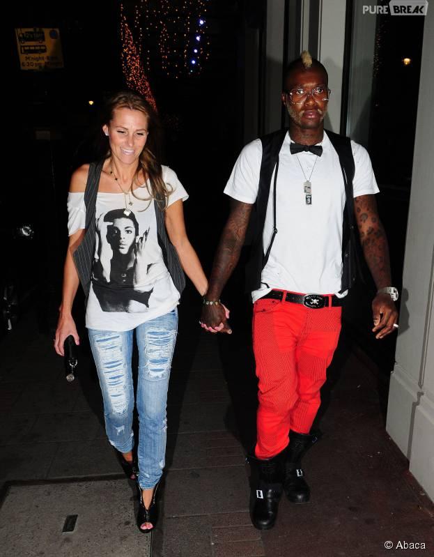 Djibril Cissé et son ex Jude dans les rues de Londres en 2009