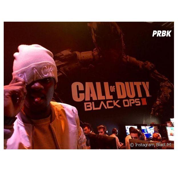 Black à la soirée Call of Duty : Black Ops 3 au salon Paris Games Week, le 27 octobre 2015