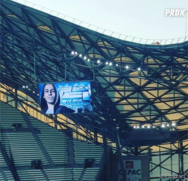 Psy 4 de la Rime : Marseille rend hommage à Sya Styles avant le match OM-Nice, le 8 novembre 2015 au Stade Vélodrome