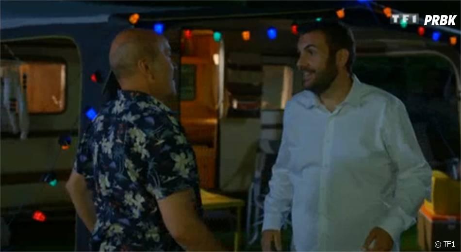 Laurent Ournac et ses kilos en moins dans l'épisode de Camping Paradis diffusé le 9 novembre 2015 sur TF1